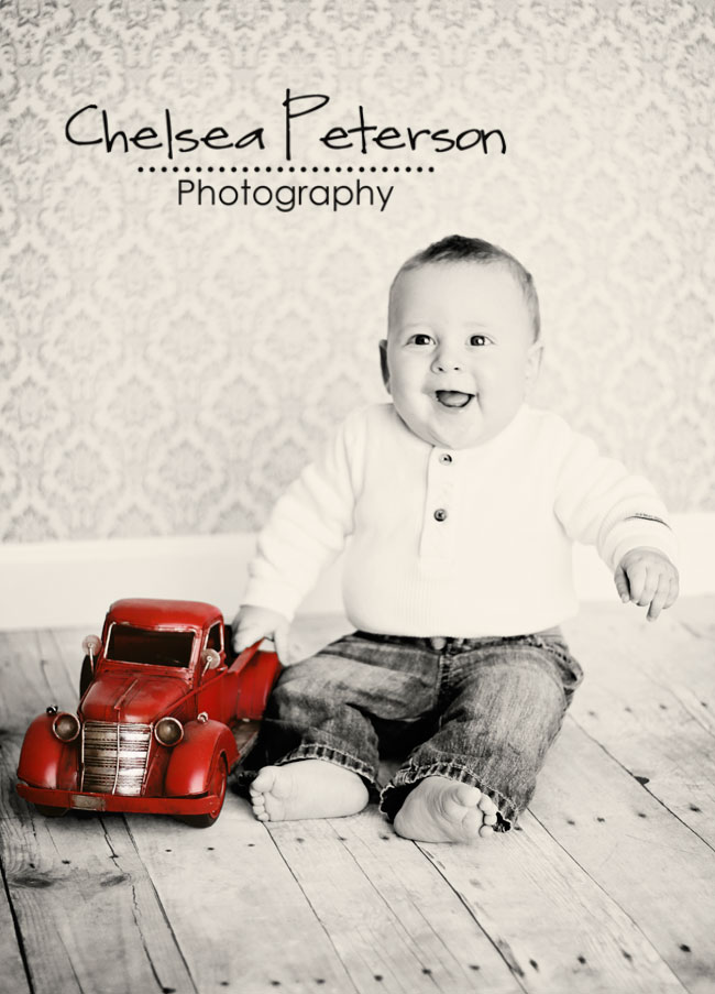 Baby with RED truck