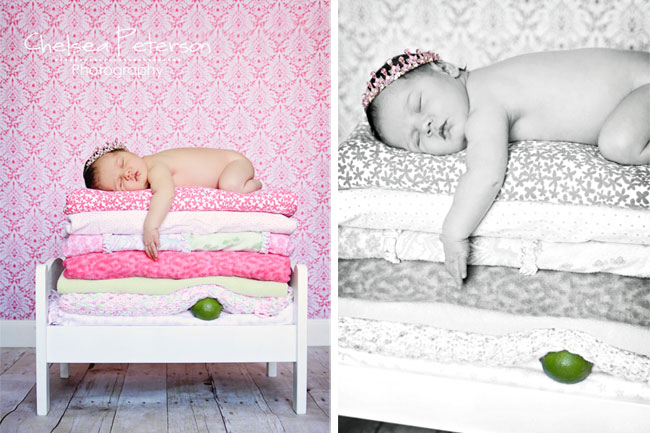 newborn princess and the pea picture