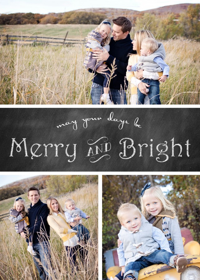 merry and bright vertical copy